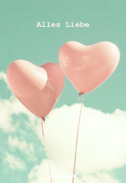 """Postkarten 120x175 mm *Alles Liebe Luftballons"""""""