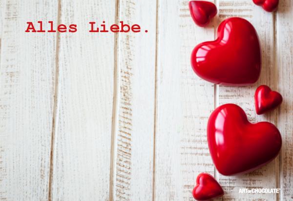 """Postkarten 175x120 mm *Alles Liebe Herzen"""""""