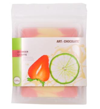 Erdbeer Limette 120g Tafel