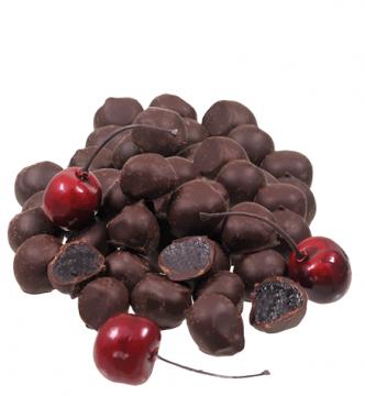 Amarenakirschen in Edelbitterschokolade *v*