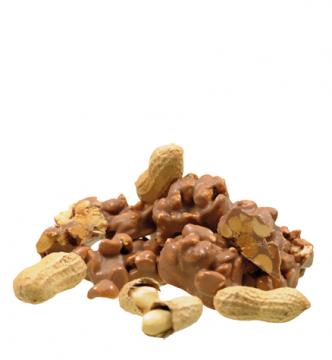 Erdnusssplitter in Vollmilchschokolade