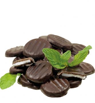 Pfefferminztaler in Edelbitterschokolade *v*