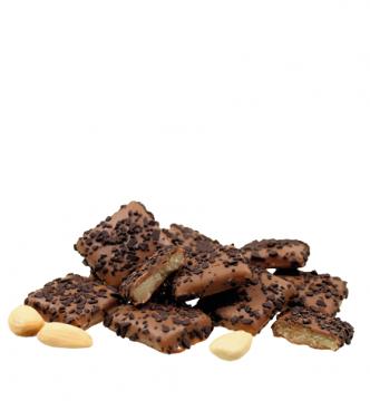 Marzipanblätter in Vollmilchschokolade