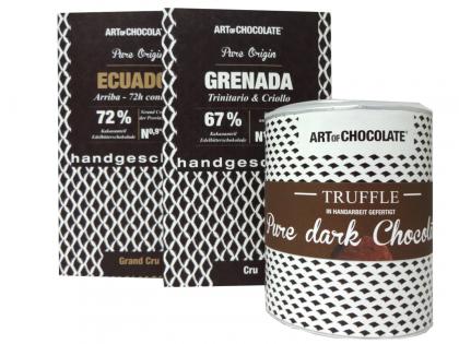SET CHOCOHOLIC Deluxe *Ecuador*Grenada*Pure dark Chocolate*