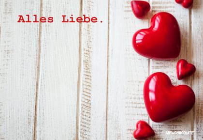 Postkarten 175x120 mm *Alles Liebe Herzen