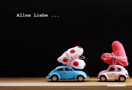 Postkarten 175x120 mm *Alles Liebe Käfer