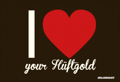 Postkarten 175x120 mm *I love your Hüftgold*