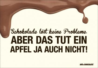 Postkarten 175x120 mm *Schokolade löst keine ...*