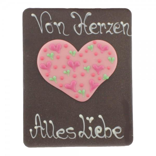 Beschriftete Tafel Edelbitter Von Herzen Alles Liebe