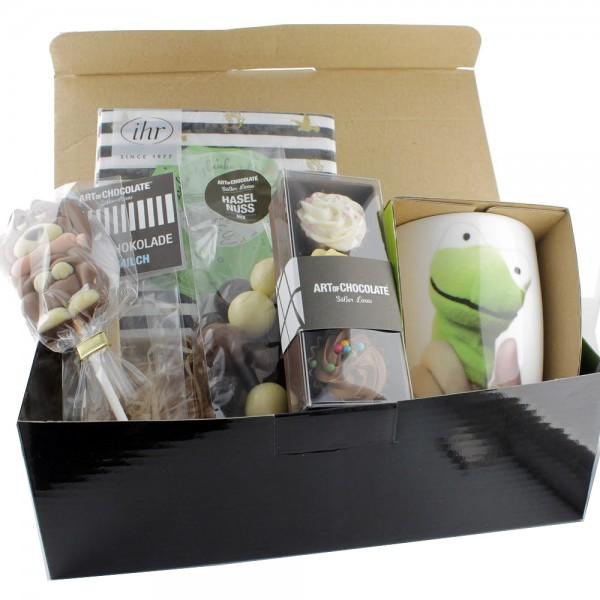 Geschenkbox mit Froschtasse
