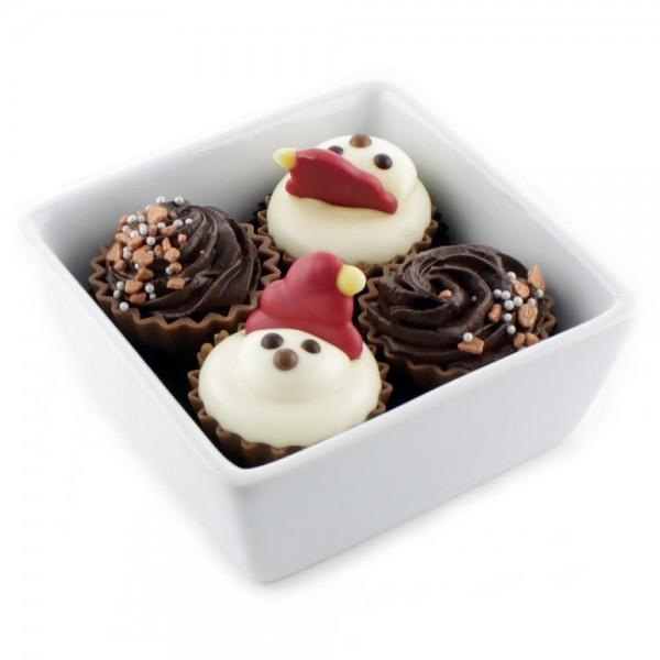 4er Cupcake Schale-Winter