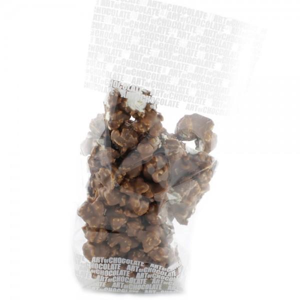 Süßes Popcorn mit Vollmilchschokolade