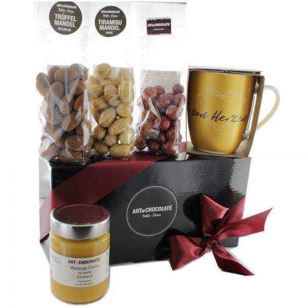 Schokoladenpaket von Herzen Gold