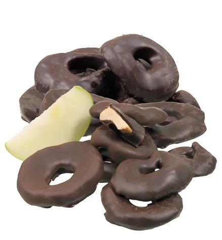 Apfelringe in Edelbitterschokolade *v*