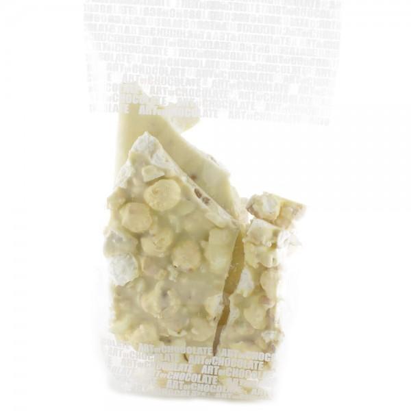 Süßes Popcorn mit Weisser Schokolade