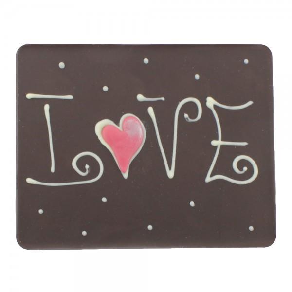 Beschriftete Tafel Edelbitter LOVE