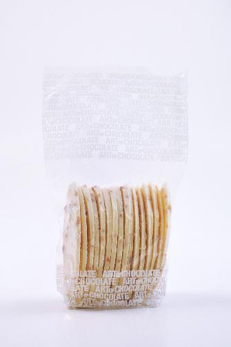 Schoko-Karamellblätter Weiß