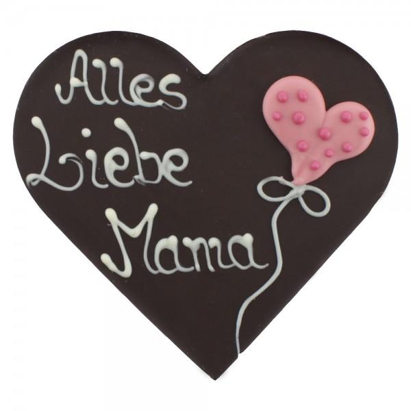 Beschriftetes Herz Edelbitter Alles liebe Mama