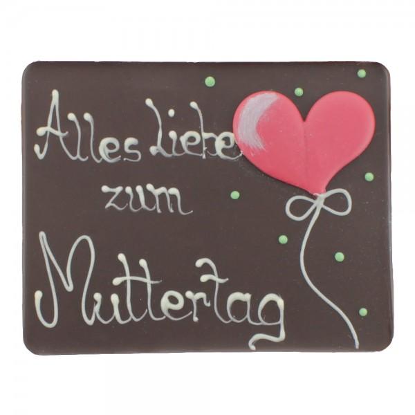 Beschriftete Tafel Edelbitter Alles Liebe zum Muttertag